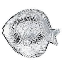 antipastiera in vetro marina a forma di pesce 20 x 15cm