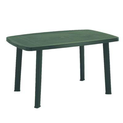 Tavolo da giardino rettangolare verde in resina resistente plastica 176x87 cm