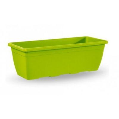 Fioriera Anthea in plastica rettangolare 100 cm verde anice interno o esterno