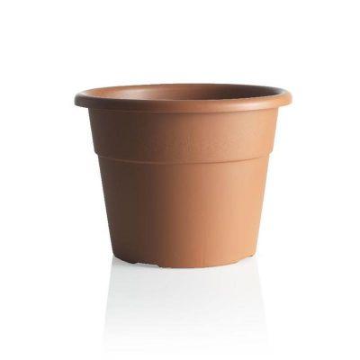 BAMA Vaso in plastica per interno/esterno con decorazioni Hedera 20cm terracotta