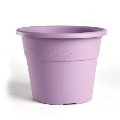 BAMA Vaso in plastica per interno/esterno con decorazioni Hedera 30cm lavanda