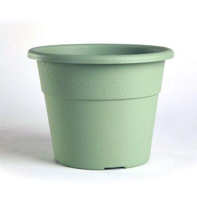 BAMA Vaso in plastica per interno/esterno con decorazioni Hedera 25cm salvia
