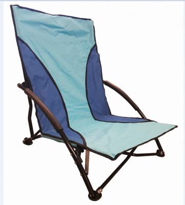 Sedia mare PRATIKA poltrona campeggio pieghevole in tessuto poliestere Blu con sacca spiaggina prendisole