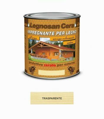 Impregnante per legno Trasparente protettivo cerato x esterno 750ml acqua Veleca