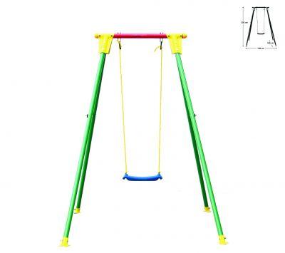 Altalena per bambini Giocattolo bambino/a da giardino da esterno un posto 1,6x1,55x2 mt