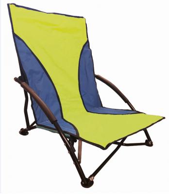 Sedia mare PRATIKA poltrona campeggio pieghevole in tessuto poliestere Verde con sacca spiaggina prendisole
