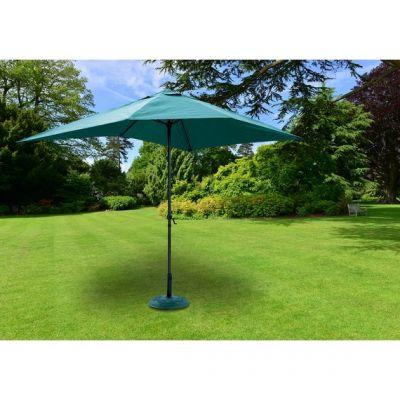 Ombrellone giardino o terrazzo alluminio 3x2 Mt Poliestere con Palo 38 Mm Verde