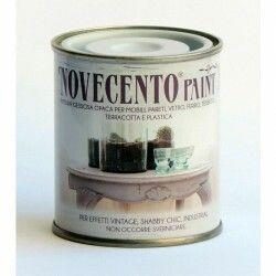 Pittura gessosa opaca shabby chic per mobili pareti vetro gesso novecento paint nero perfetto 125 ml
