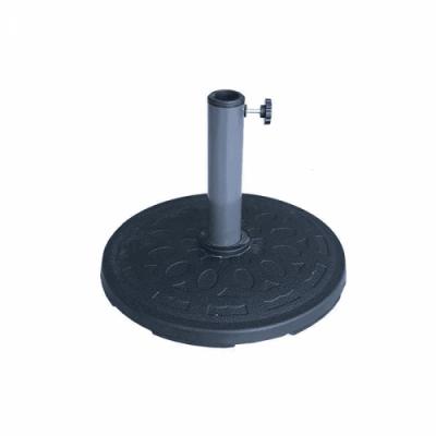 Base per ombrellone nero con palo centrale in poliresina D.50 25 kg giardino