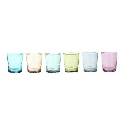 Set 6 bicchieri in vetro granada colori per acqua arredo tavola