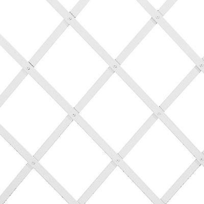 Traliccio estensibile in PVC bianco liscio