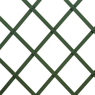 Traliccio estensibile in PVC verde liscio