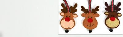 Appendino natalizio con Renna in feltro 15cm