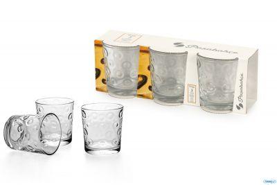 Confezione 3 bicchieri in vetro trasparente per acqua