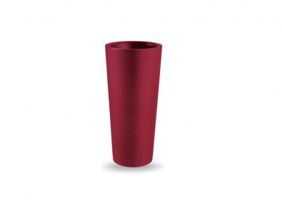 Vaso tondo a colonna veca vaso clou alto H 65 cm vari colori estraibile resina ROSSO