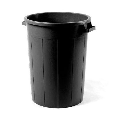 Bidone spazzatura esterno sovrapponibile pattumiera nero 75 cl