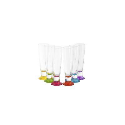 Confezione 6 bicchieri in vetro colorati cincin 40cl arredo tavola