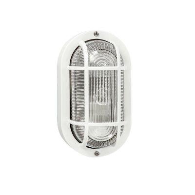 Applique Ovale Bianco Con Griglia Efesto illuminazione esterna