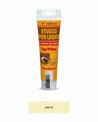 Stucco per legno inodore tap/filler Abete 150ml Veleca - ripara e restaura legno