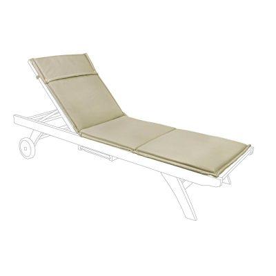 Cuscino per lettino da esterno per spiaggine idrorepellente tessuto 190 x 62 cm