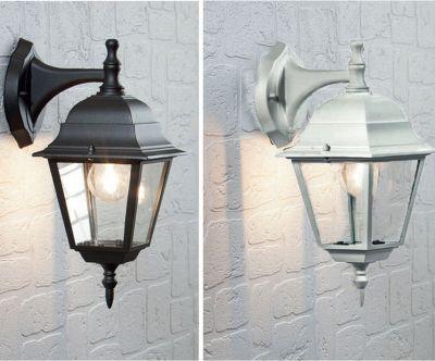 Lampada lanterna 4 lati esterno muro parete sospesa giardino vetro alluminio