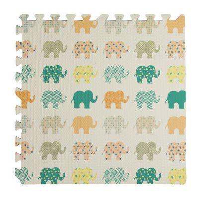 Tappeto puzzle antiscivolo ELEFANTE 60x60 4pezzi bambini esterno/interno gioco