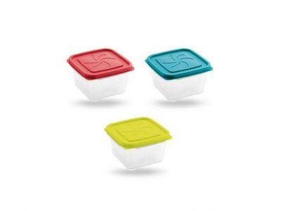 contenitore in plastica rettangolare piccolo con coperchio