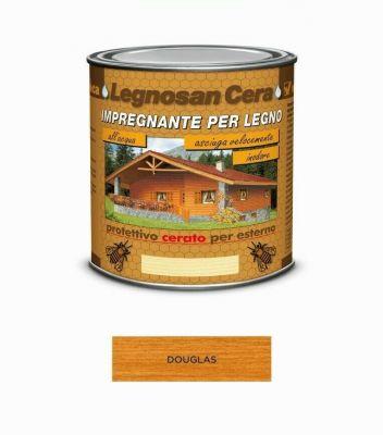 Impregnante per legno Douglas protettivo cerato per esterno 750ml acqua Veleca