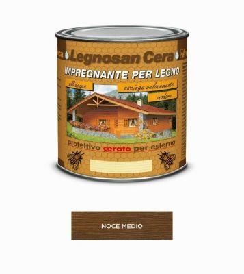 Impregnante per legno Noce Medio protettivo cerato x esterno 750ml acqua Veleca