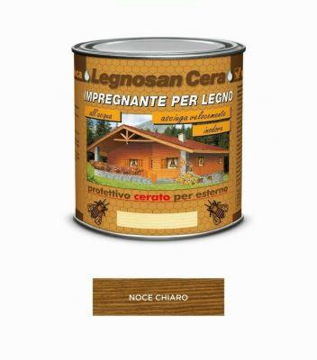 Impregnante per legno Noce Chiaro protettivo cerato x esterno 750ml acqua Veleca