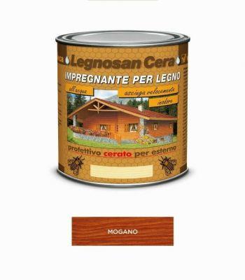 Impregnante per legno Mogano protettivo cerato per esterno 750ml acqua Veleca