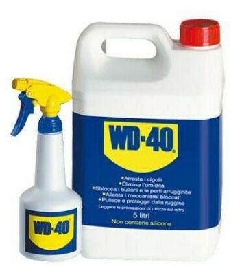 lubrificante sbloccante wd40 tanica 5lt + spruzzino dosatore