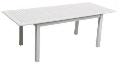 Tavolo in alluminio di alta qualità bianco per esterno rettangolare tavoli con apertura a farfalla BIANCO, 173x100x75