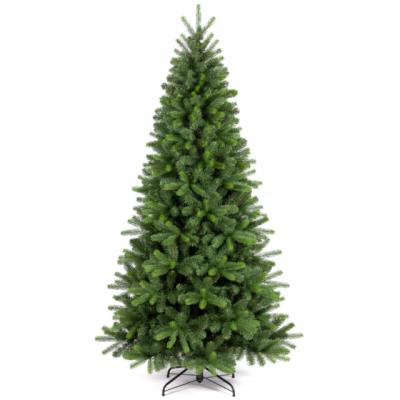 Albero di Natale VERMONT 210 cm Abete verde con 1139 rami e base in metallo