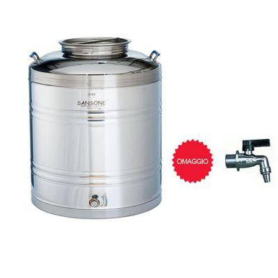 Sansone LT. 100 Botte per Olio e vino serbatoio in acciaio INOX/contenitore acciaio inossidabile