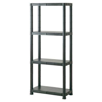Scaffale kit in plastica scaffalatura 4 ripiani Towers Brixo 100kg 60x30x143H