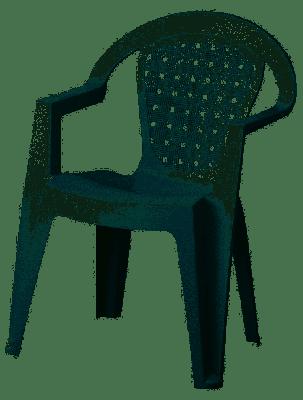 Sedia in Plastica Con Braccioli Bianca Norma