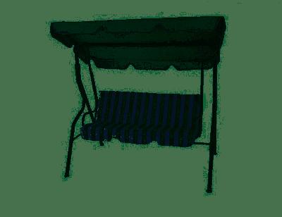 Axel Dondolo 3 Posti da Giardino Altalena Acciaio con Tetto Regolabile Imbottitura 170cm