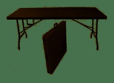 Verdelook Tavolo pieghevole marrone 180x70 cm effetto legno Tavoli catering