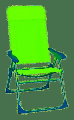 Poltrona sdraio relax chair verde pieghevole reclinabile 5 posizioni  in alluminio per mare piscina