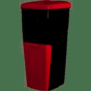 Triplo Contenitore per la separazione dei rifiuti bidone Pattumiera-ROSSO