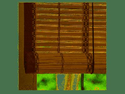 VERDELOOK Tapparella Egitto in Bamboo con Bordo in Cotone 150x300 cm CILIEGIO tapparelle