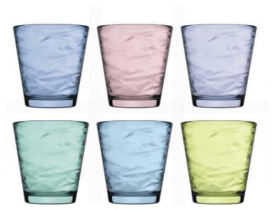 Set 6 bicchieri Origami Pasabahce colorati 24,5 cl