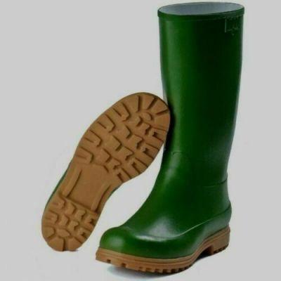 Stivali da lavoro verdi alti in gomma impermeabili uomo donna taglia 38