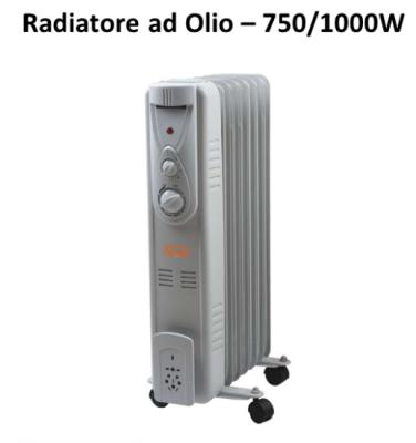 Stufa elettrica Radiatore ad olio oleodinamico 7 elementi 100W Vinco