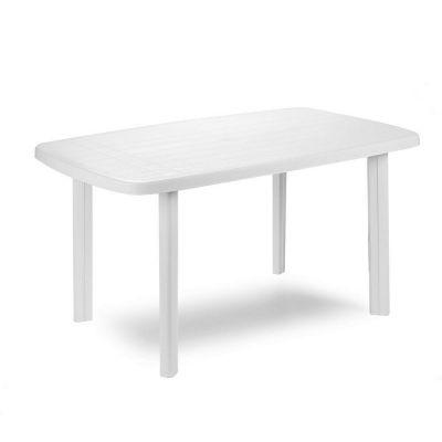 Tavolo componibile in resina Faro per esterno e giardino 137x85 Bianco