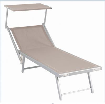 Sdraio prendi sole Pool con parasole in alluminio tortora per mare piscina giardino