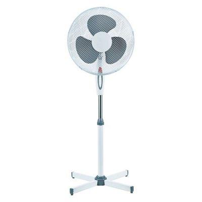 ventilatore a piantana bianco terra colonna pale 40 cm 3 velocita altezza 125 cm regolabile