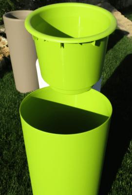 "Cache-pot ""clou"" veca vaso fioriera tondo resina alto 65 cm verde vasi giardino"