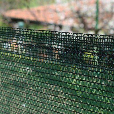 Telo rete ombreggiante Alta schermatura 90% oscurante Verde frangisole -  2,00 mt X 5 mt